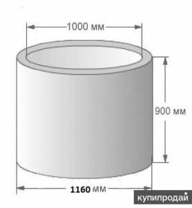 Кольцо ж/б 1.0м 0.9м Вязьма