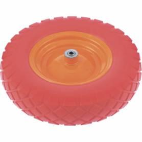 Колесо полиуретановое 4.80/4-8, длина оси 90 мм, подшипник 12/20 мм 68978/68977